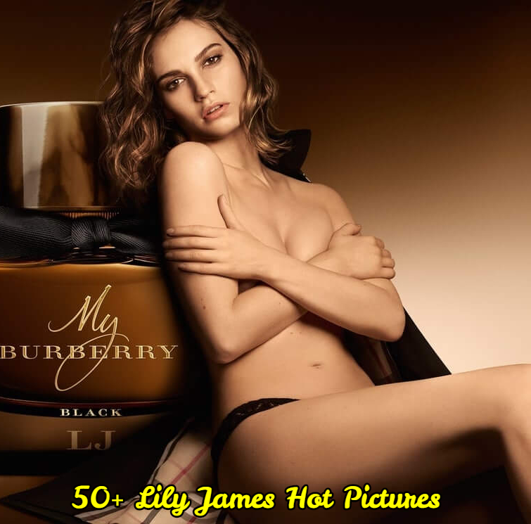 Lily James sexy topless pic