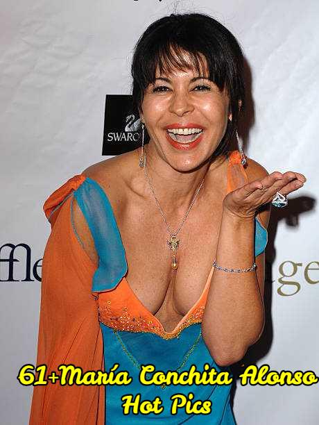 María Conchita Alonso sexy cleavage