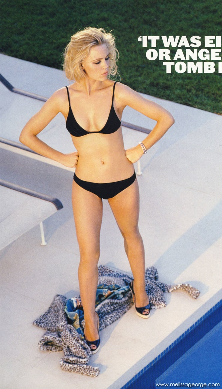 Melissa George black bikini