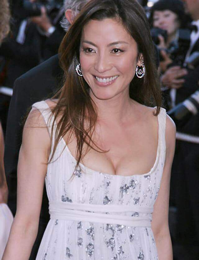 Michelle Yeoh hot cleavage