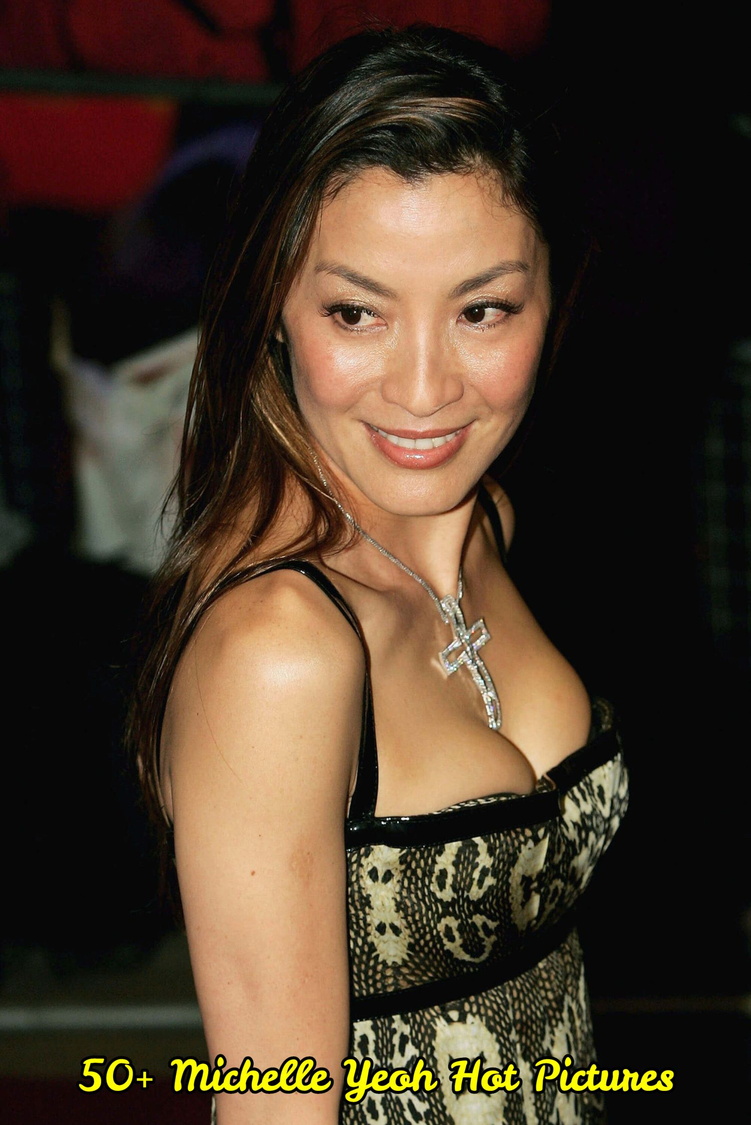 Michelle Yeoh sexy cleavage