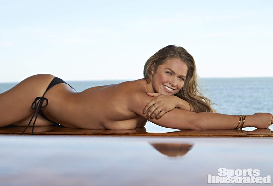 Ronda Rousey hot near-nude pictures