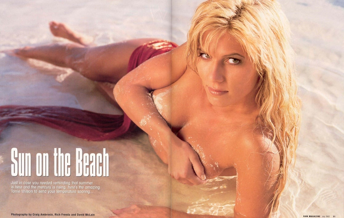 Torrie Wilson near nude
