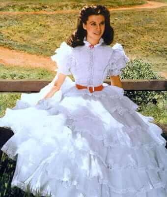 Vivien Leigh sexy white dress
