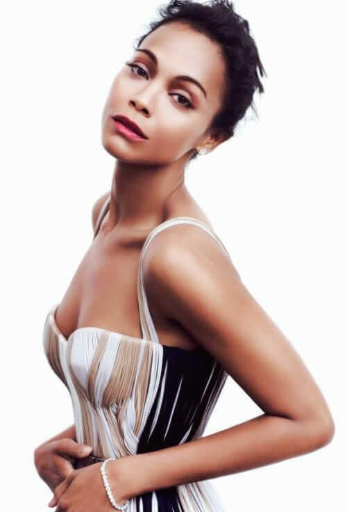 Zoe Saldana hot side pics