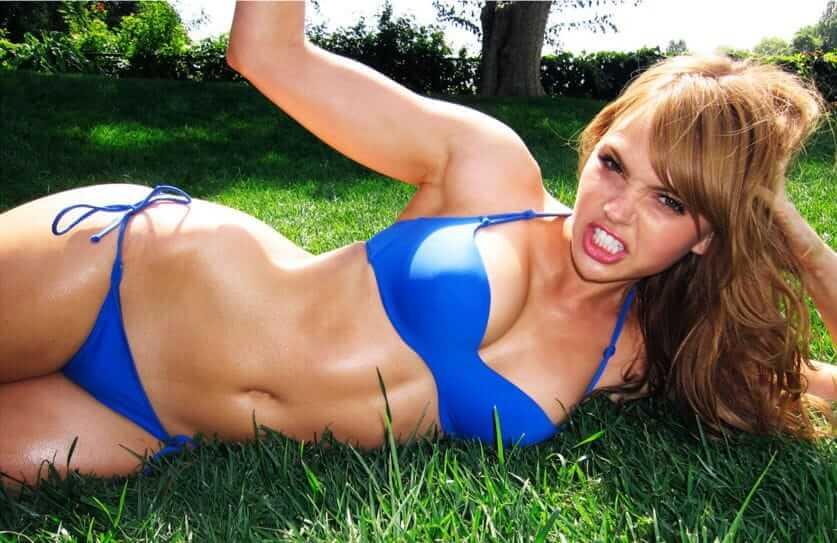 aimee teegarden blue bikini