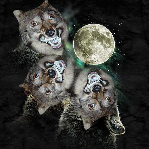 animated Three Wolf Moon memes