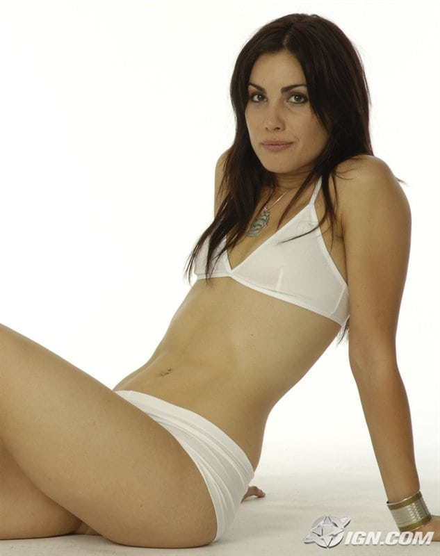 carly pope white bikini