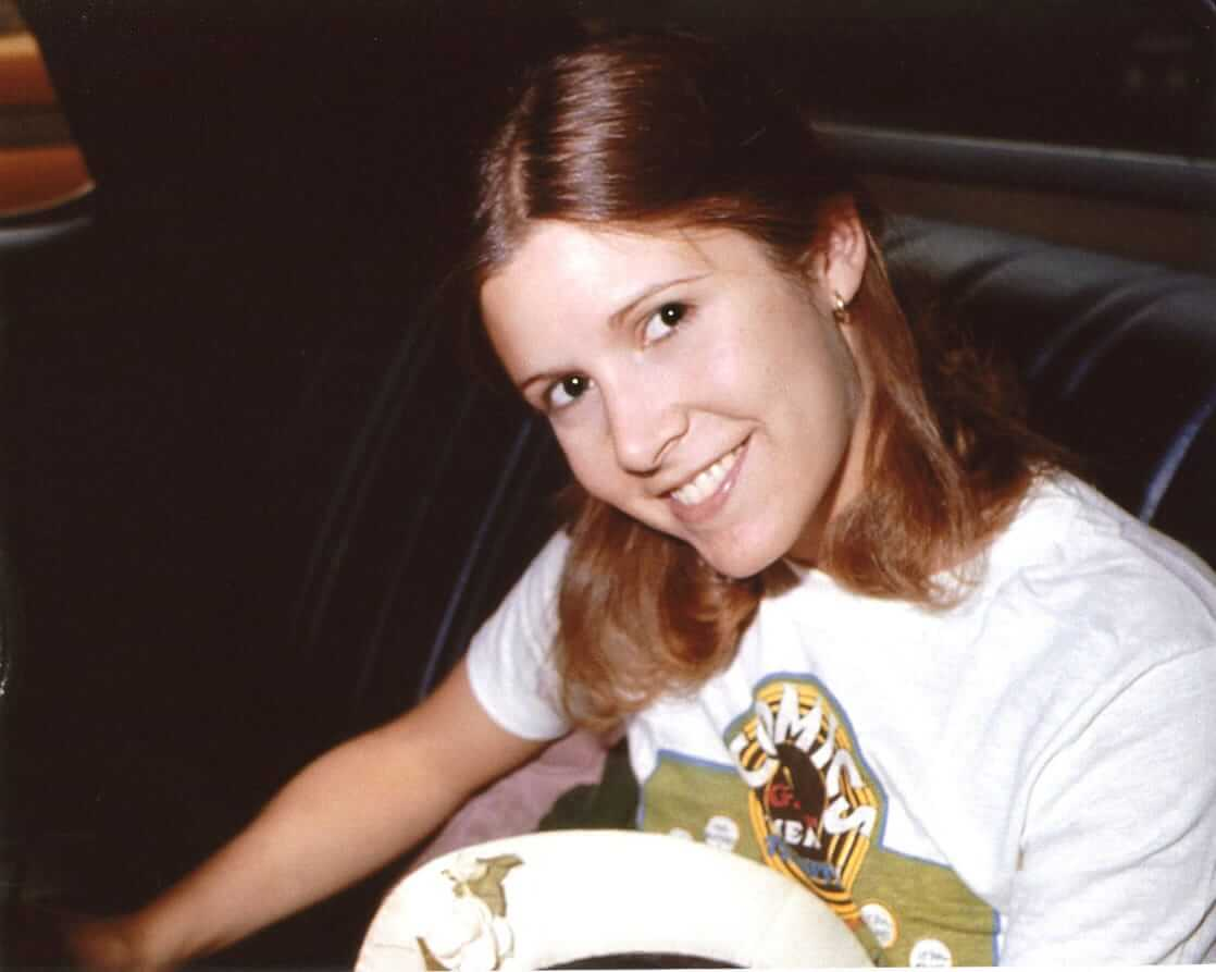 carrie fisher hot smile