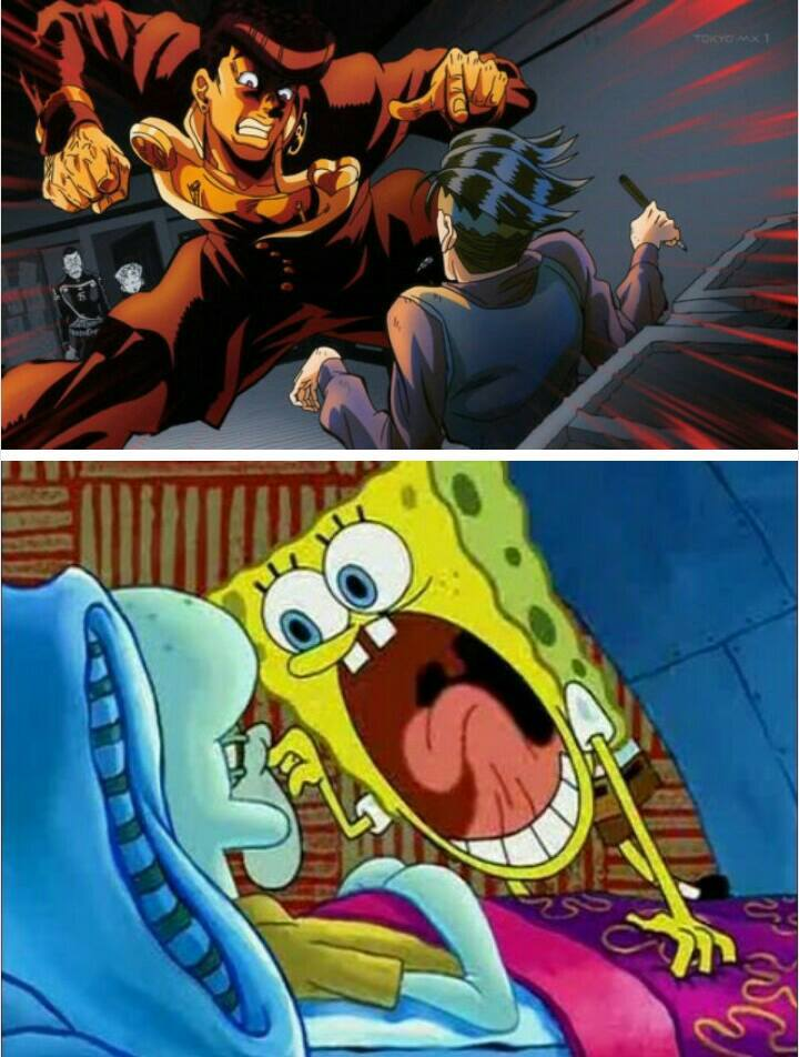cheerful JoJo's Bizarre Adventure memes