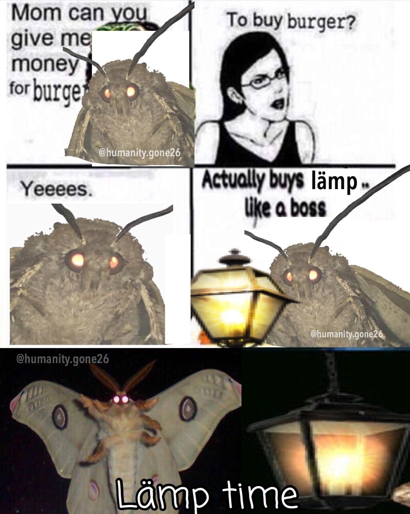 cheerful Moth Lamp memes