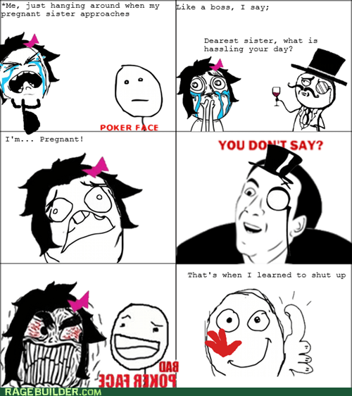 cheerful Poker Face memes