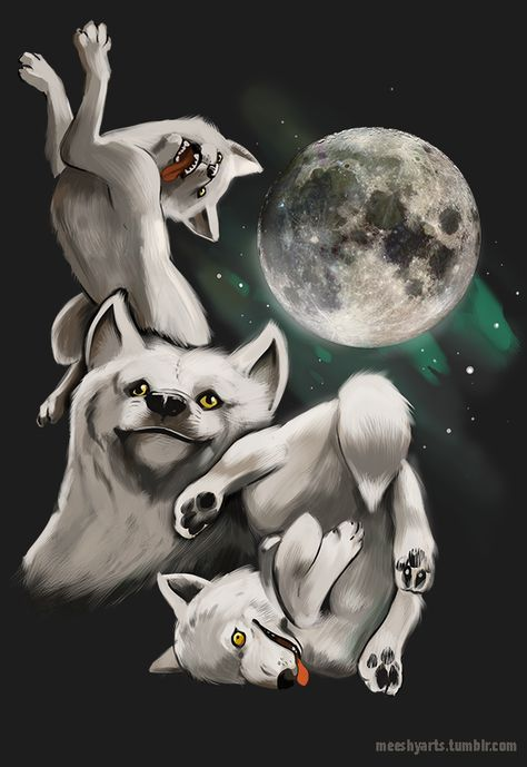 chucklesome Three Wolf Moon memes