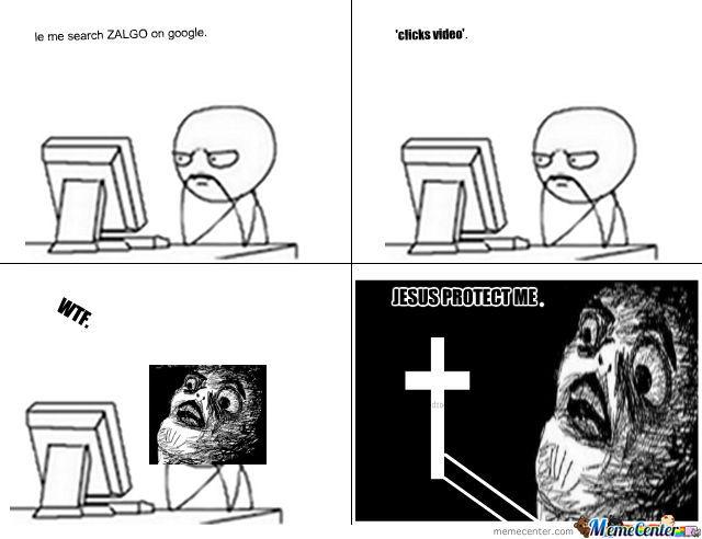 chucklesome Zalgo memes