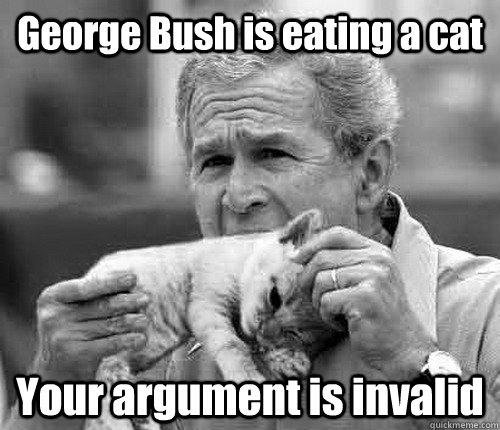 comical Your Argument Is Invalid memes