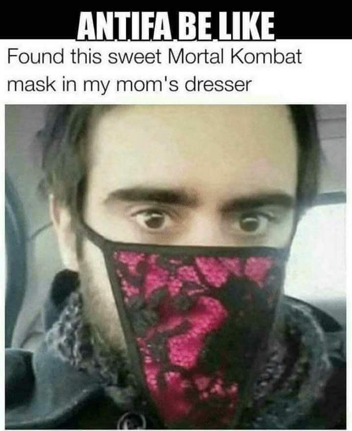 comical antifa meme