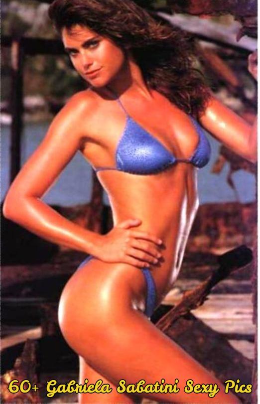 gabriela sabatini blue bikini