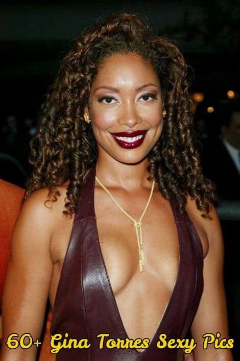 gina torres sexy cleavage