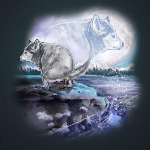 high-spirited Three Wolf Moon memes