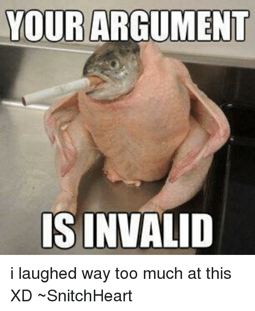humorous Your Argument Is Invalid memes