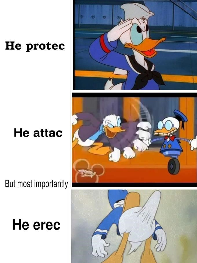 jolly He Protec but He Also Attac memes