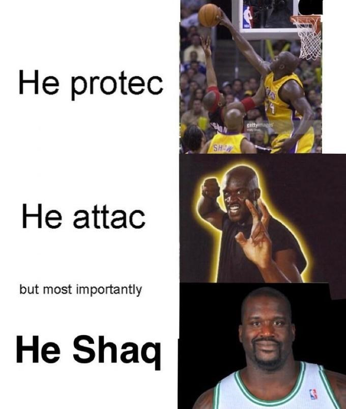 laughable He Protec but He Also Attac memes