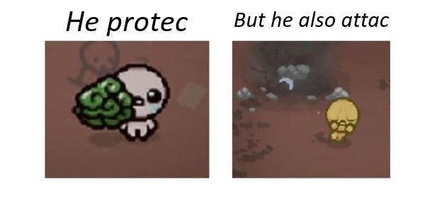 lively He Protec but He Also Attac memes
