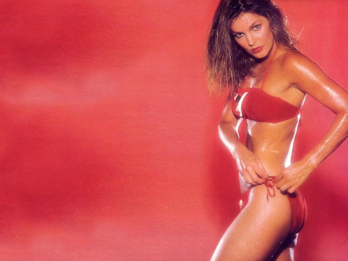 priscilla presley red bikini