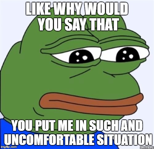 rib-tickling Sad frog memes