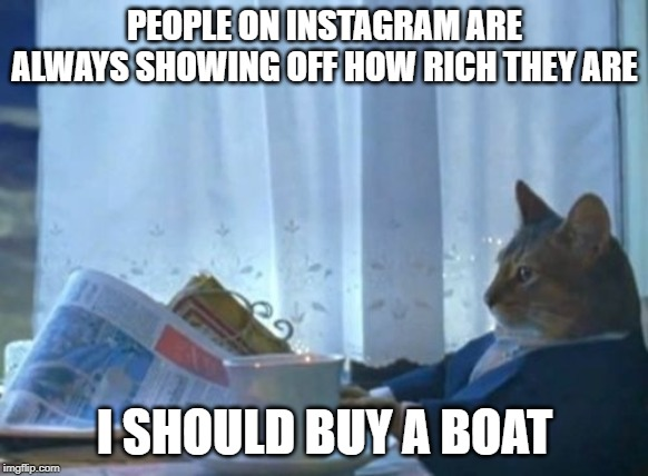rib-tickling I Should Buy a Boat Cat memes