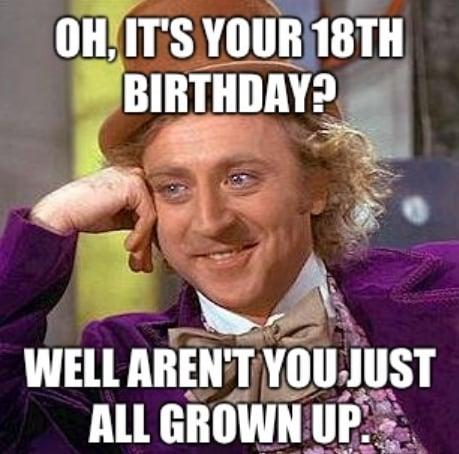 sparkling adult birthday memes