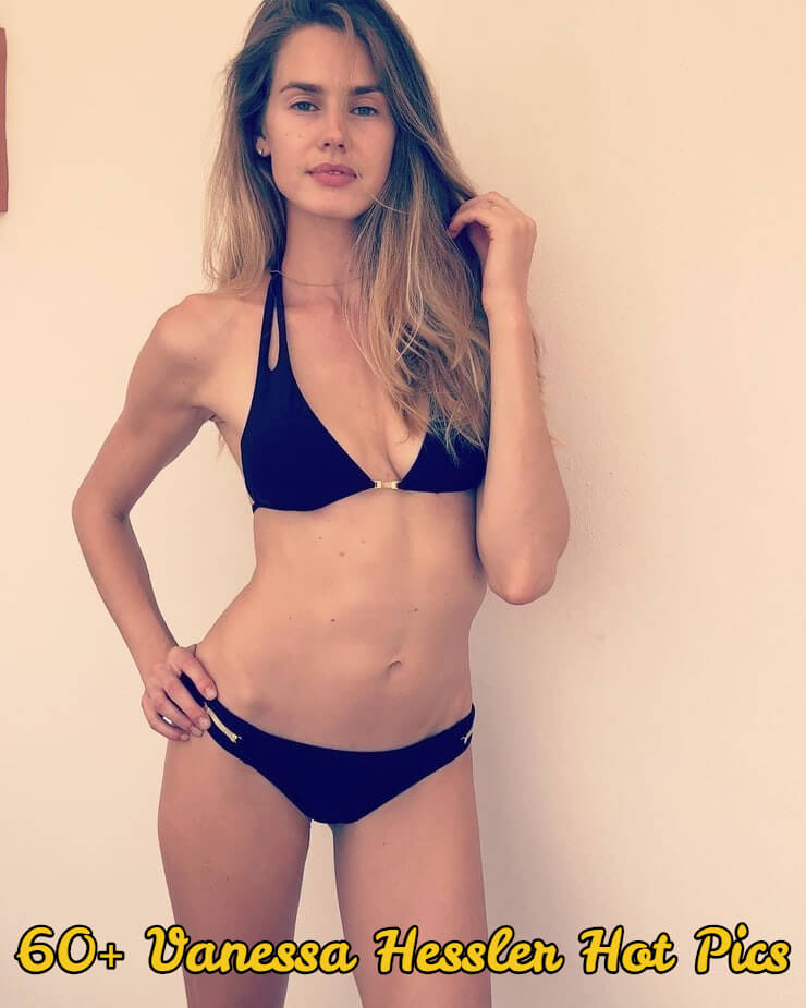 vanessa hessler black bikini