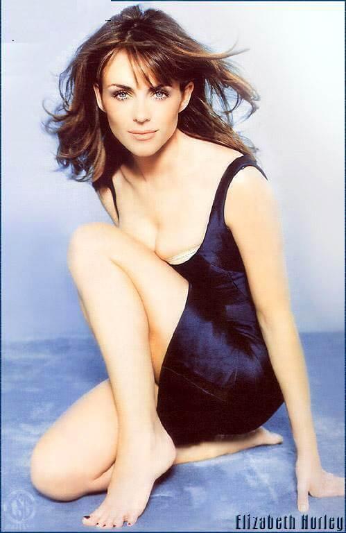 Elizabeth Hurley side boobs