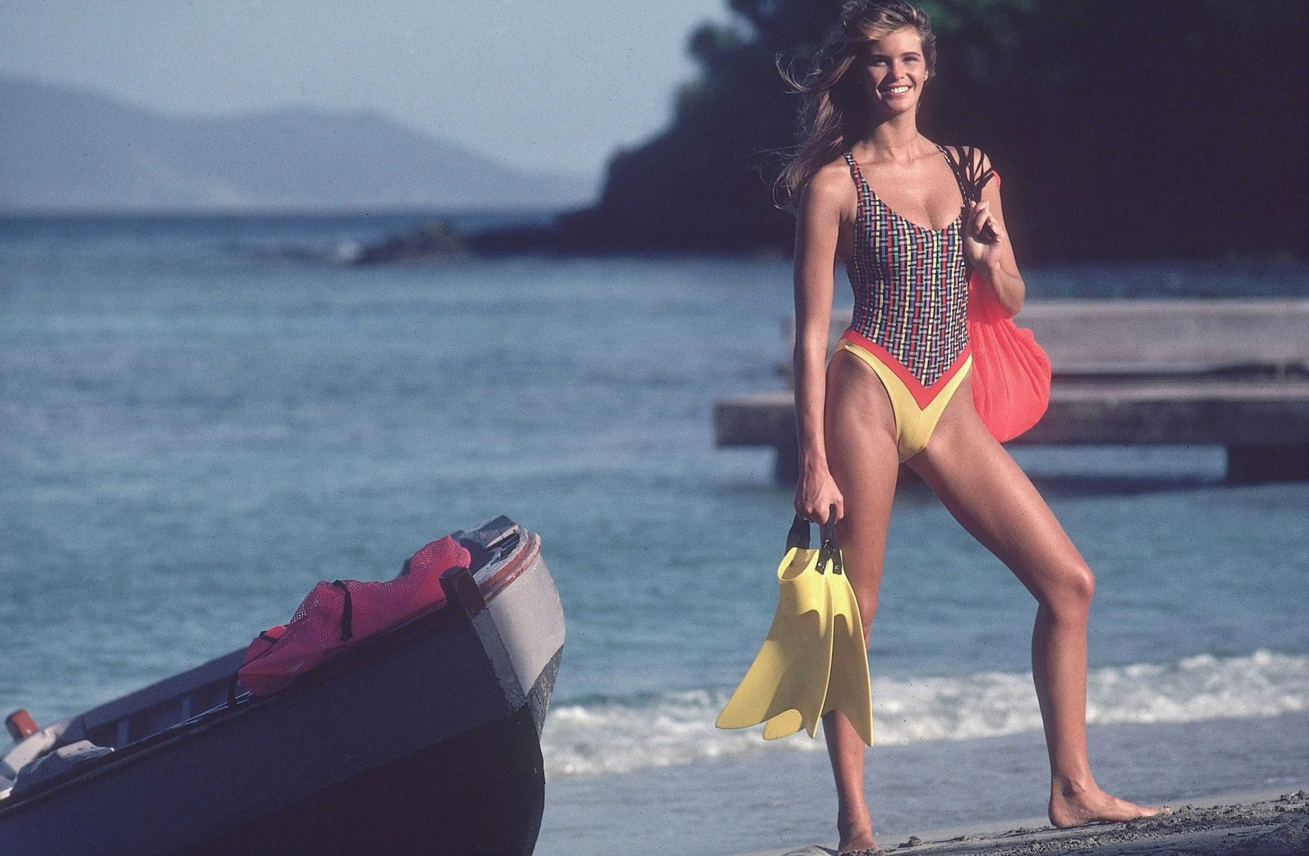 Elle Macpherson swim suit