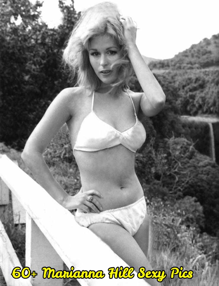 Marianna Hill white bikini pics