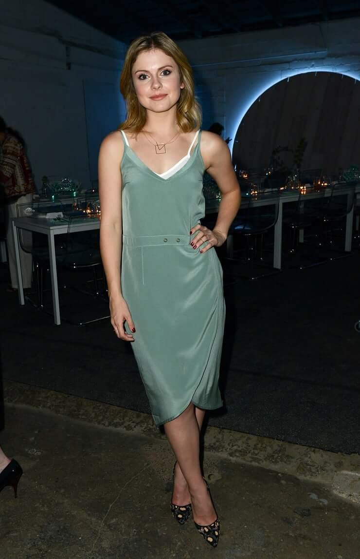 Rose McIver sexy dress