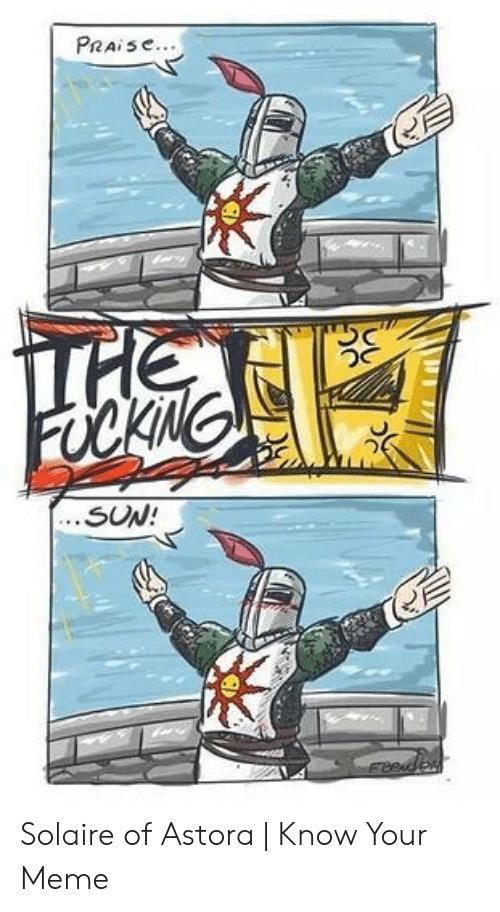 amusing Solaire of Astora memes