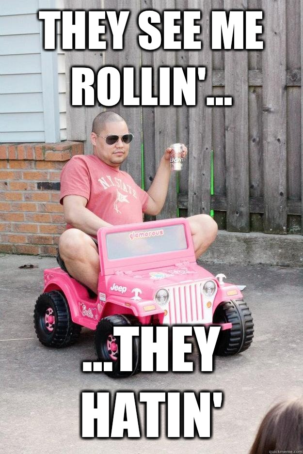 cheerful They See Me Rollin memes
