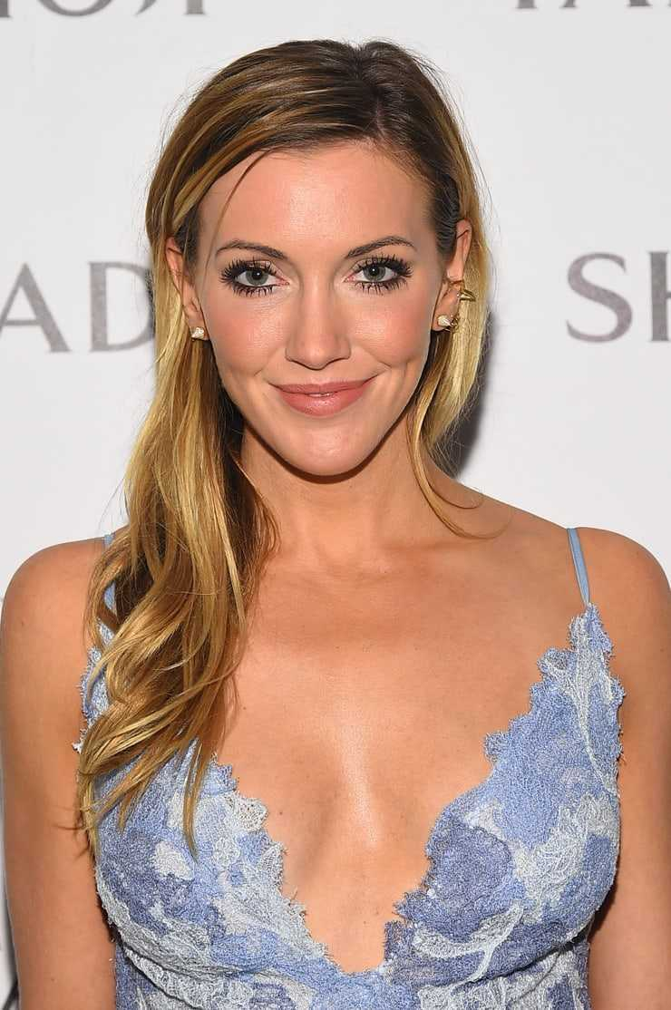 katie cassidy cleavage