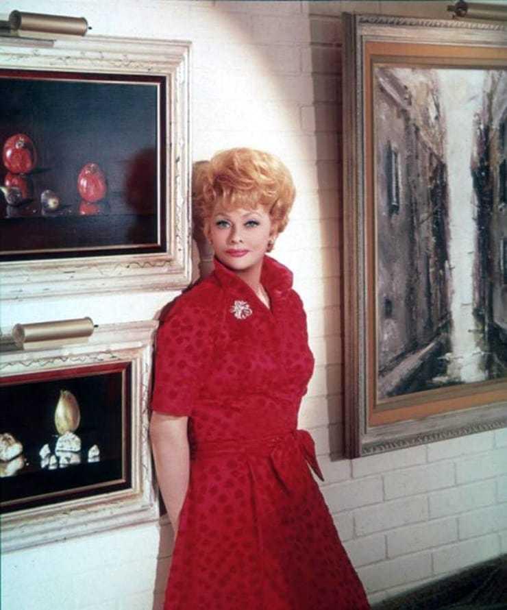 lucille ball red dress