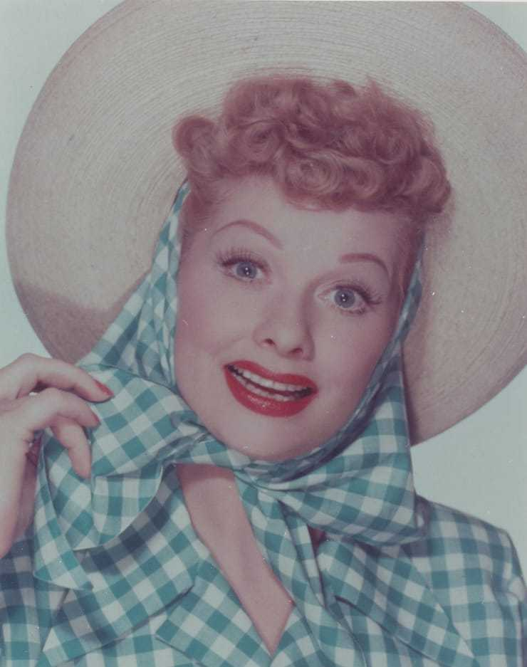 lucille ball red lips