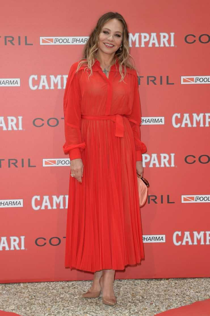 ornella muti red dress