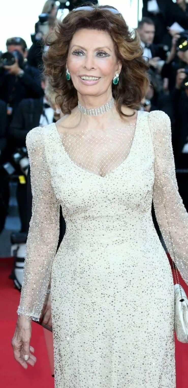sophia loren white dress
