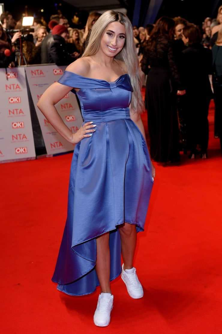 stacey solomon red carpet