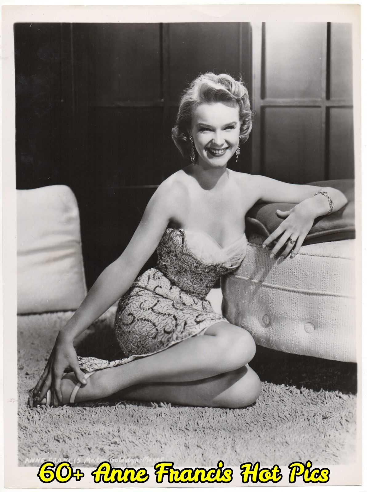Anne Francis side boobs