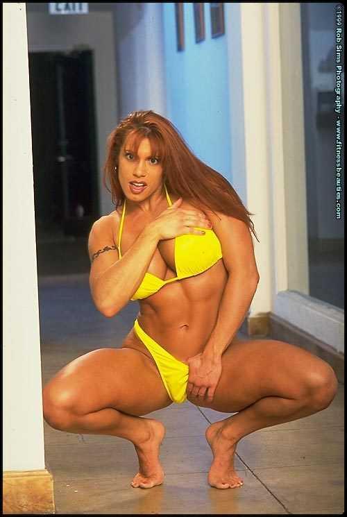 April Hunter sexy yellow bikini pic
