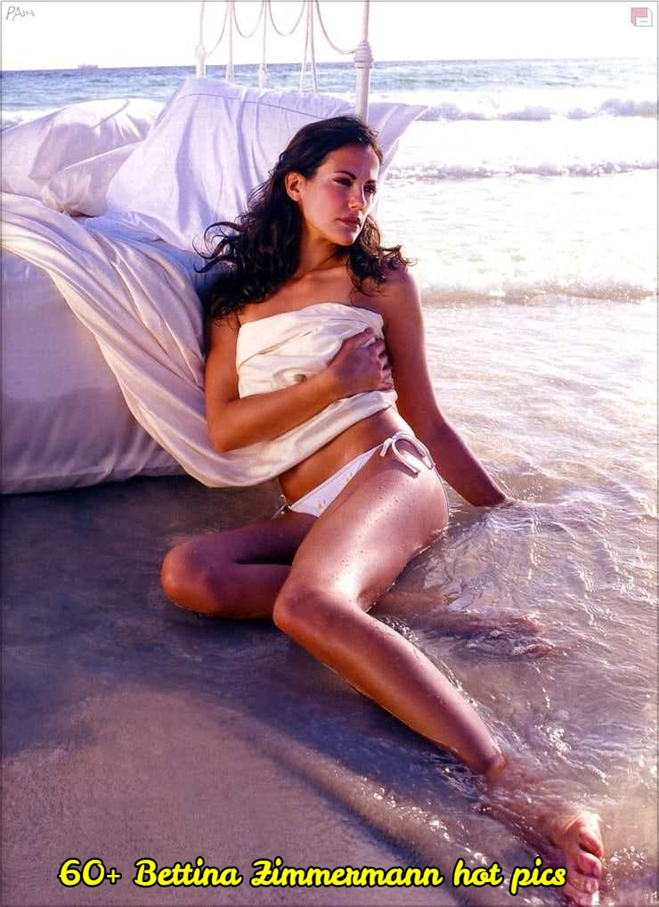 Bettina Zimmermann sexy near nude pic