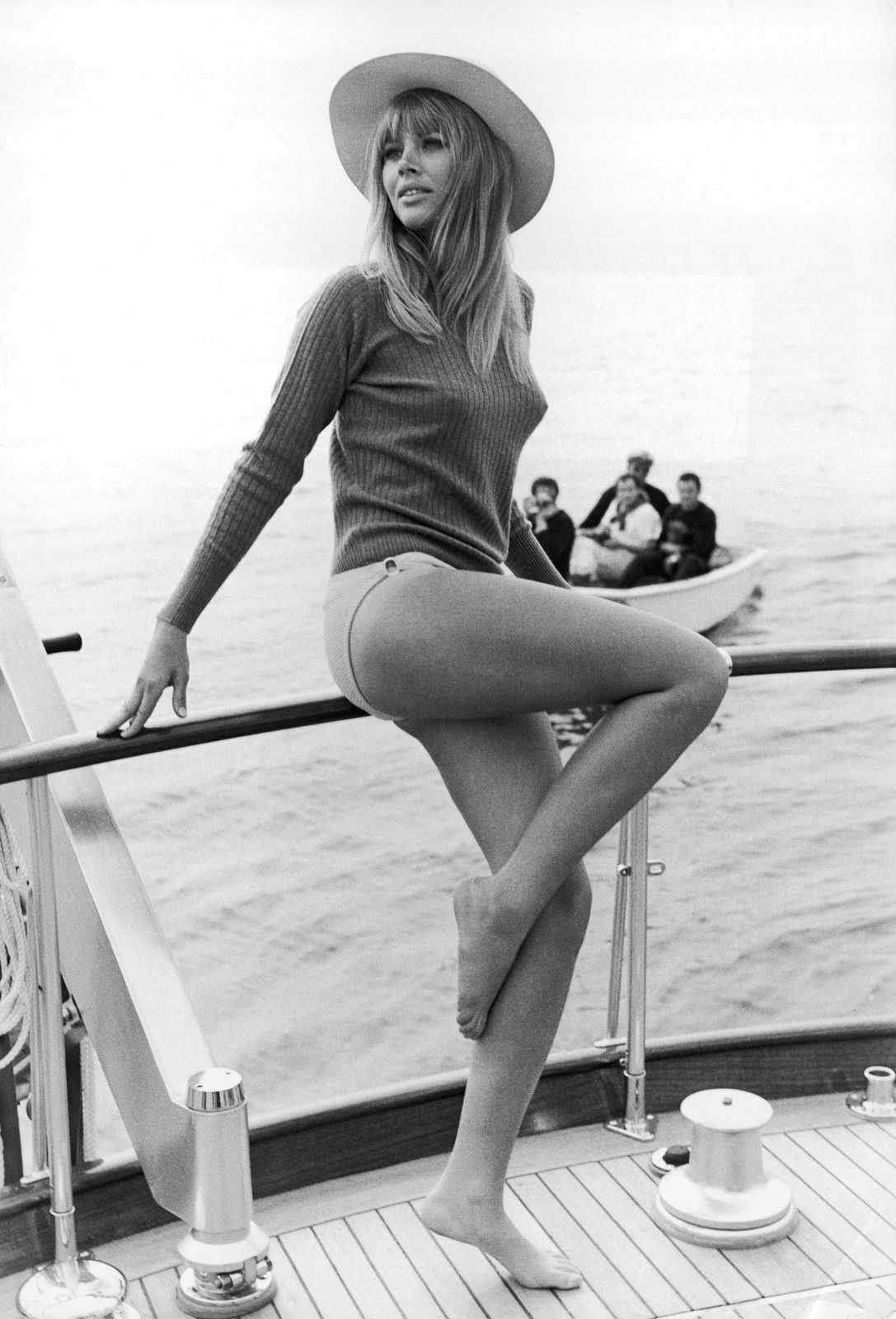 Britt Ekland side pose