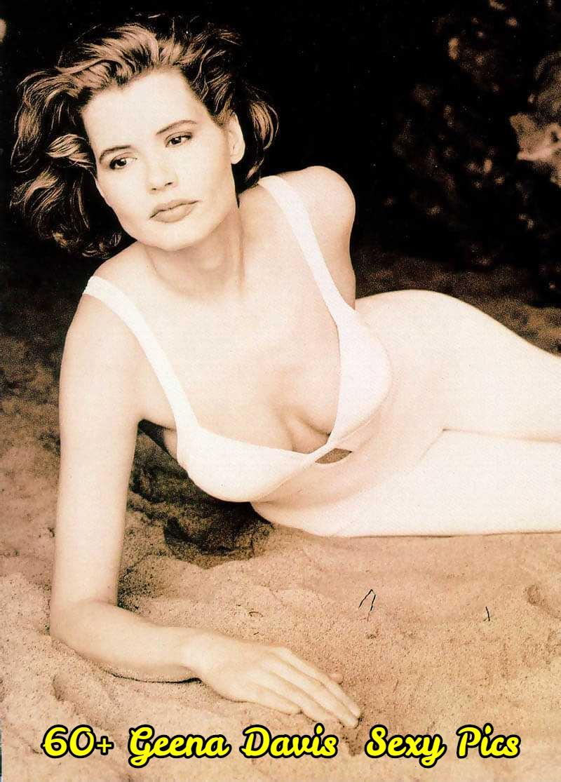 Geena Davis boobs cleavage