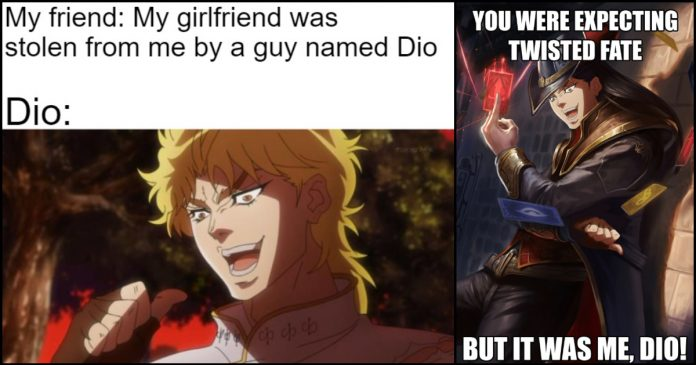 160 It Was Me Dio Memes That Are So Hilarious Geeks On Coffee